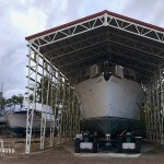 Steel truss commercial boat storage