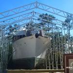 metal web truss marina storage