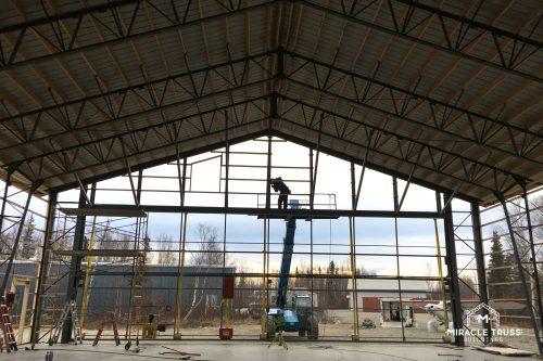 metal truss install