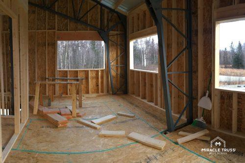 truss home interior