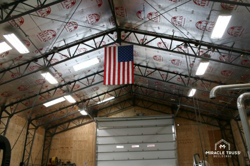 high ceiling truss building