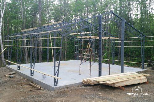 garage being built