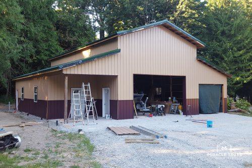 high ceiling garage