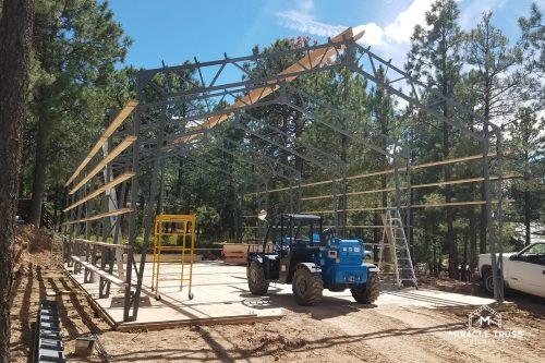 diy metal truss building
