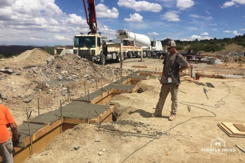concrete footing for truss
