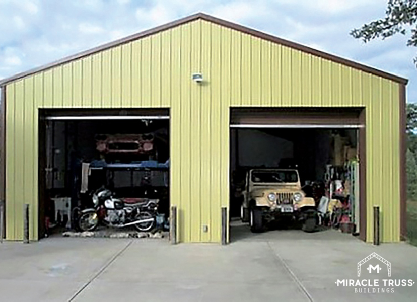 Easy assemble diy metal garage or shop miracle truss garages and shops 29 metal storage buildings solutioingenieria
