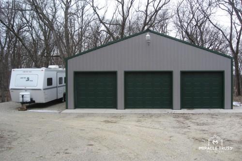 3 door garage