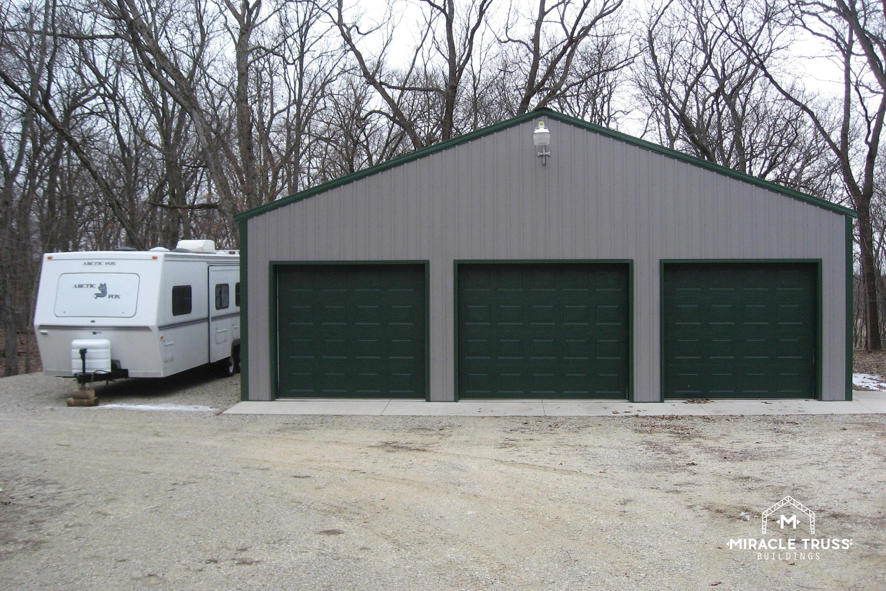Easy assemble diy metal garage or shop miracle truss garages and shops 22 3 car garage solutioingenieria Choice Image