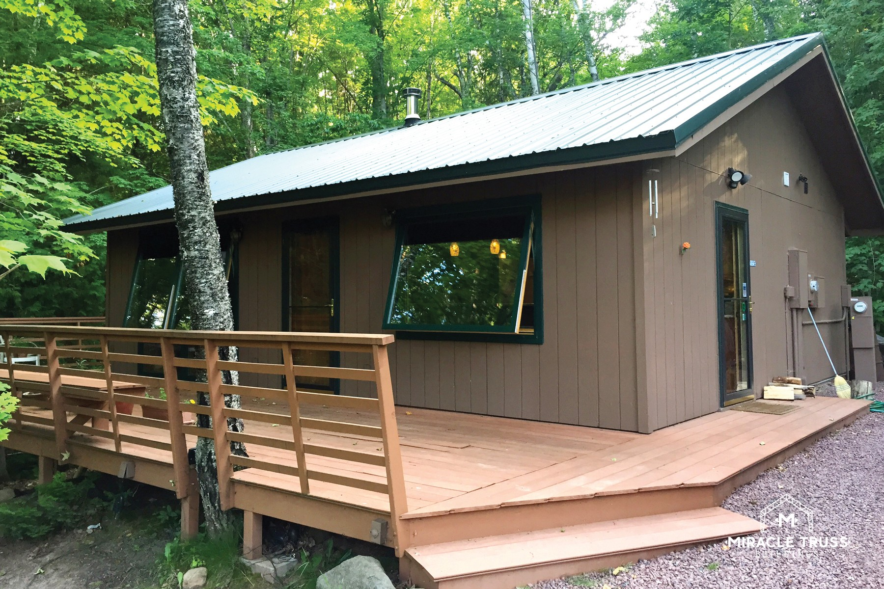 modern diy cabins and retreats miracle truss ForMetal Cabin Kits