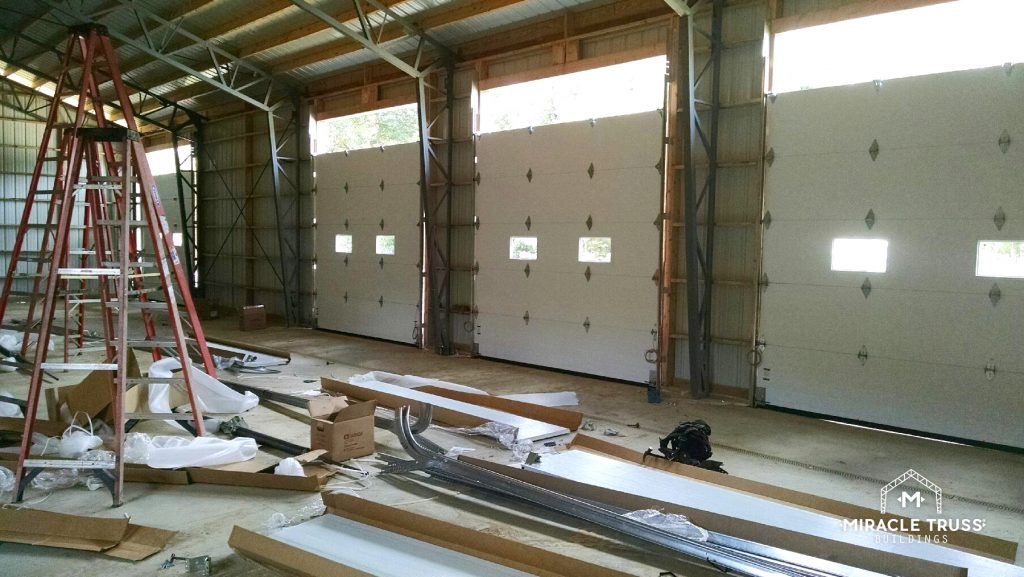 Steel Truss Designs Support Multiple Garage Doors