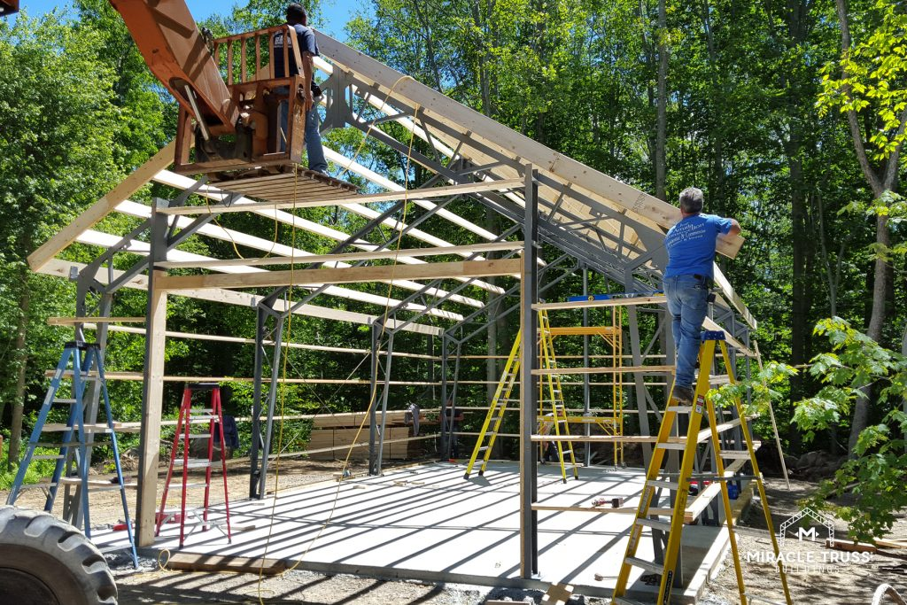 Steel Trusses Guarantee Construction Strength