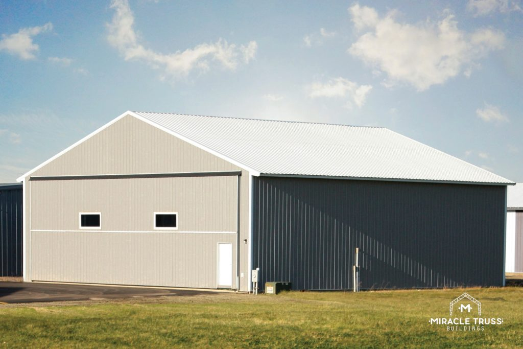 Steel Trusses Support the Weight of Hangar Doors