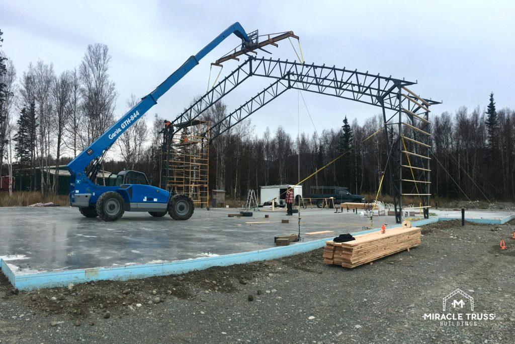The Steel Trusses are Completely Assembled in Just Four Steps
