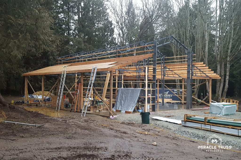 Steel Trusses Give Strength, While Wood Offers Construction Flexibility