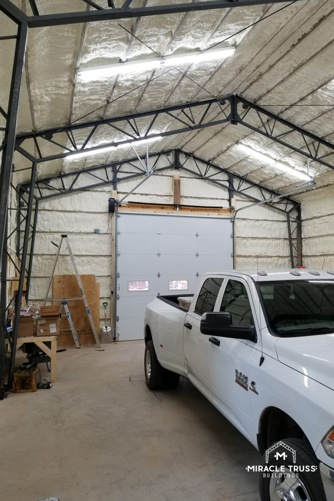 Spray on Insulation and Work in Your Garage All Winter Long