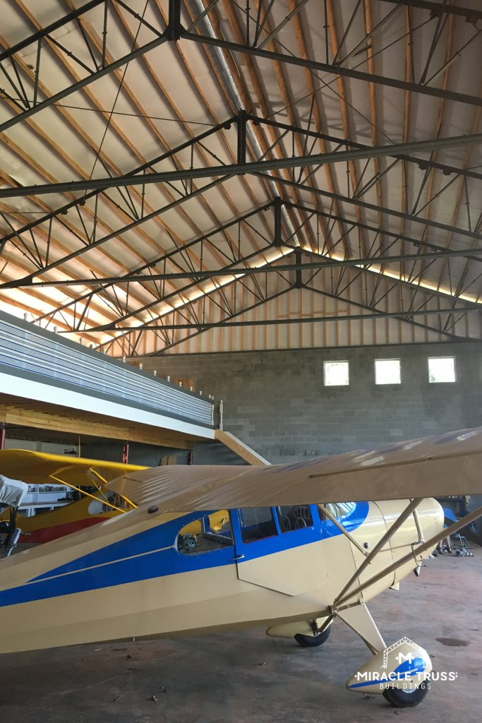 Truss Heights Allow for Hangar Lofts
