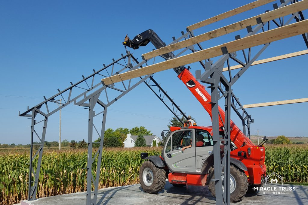 You Can See the Steel's Durability as You Assemble the Trusses