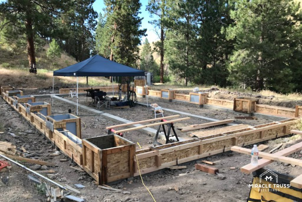 Our Kit Buildings can be set up with or without a concrete foundation.