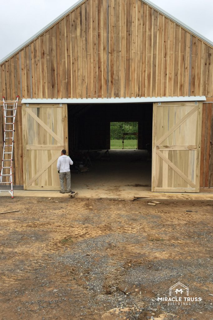 Large door openings offer optimal access for Metal Barns.