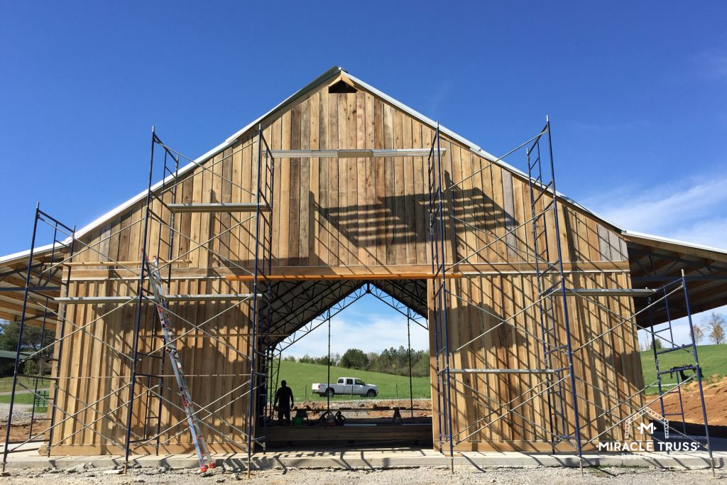 Trusses only orders allow you to choose your own exterior for all Kit Buildings.