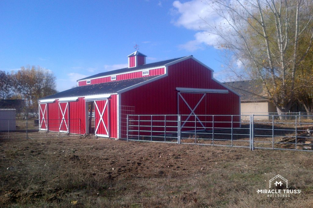 Gambrel roofs give Metal Barns a touch of tradition and style!