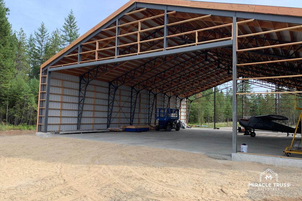 Side headers and transfer beams can handle the large door openings necessary for your Pre-Fab Hangar.