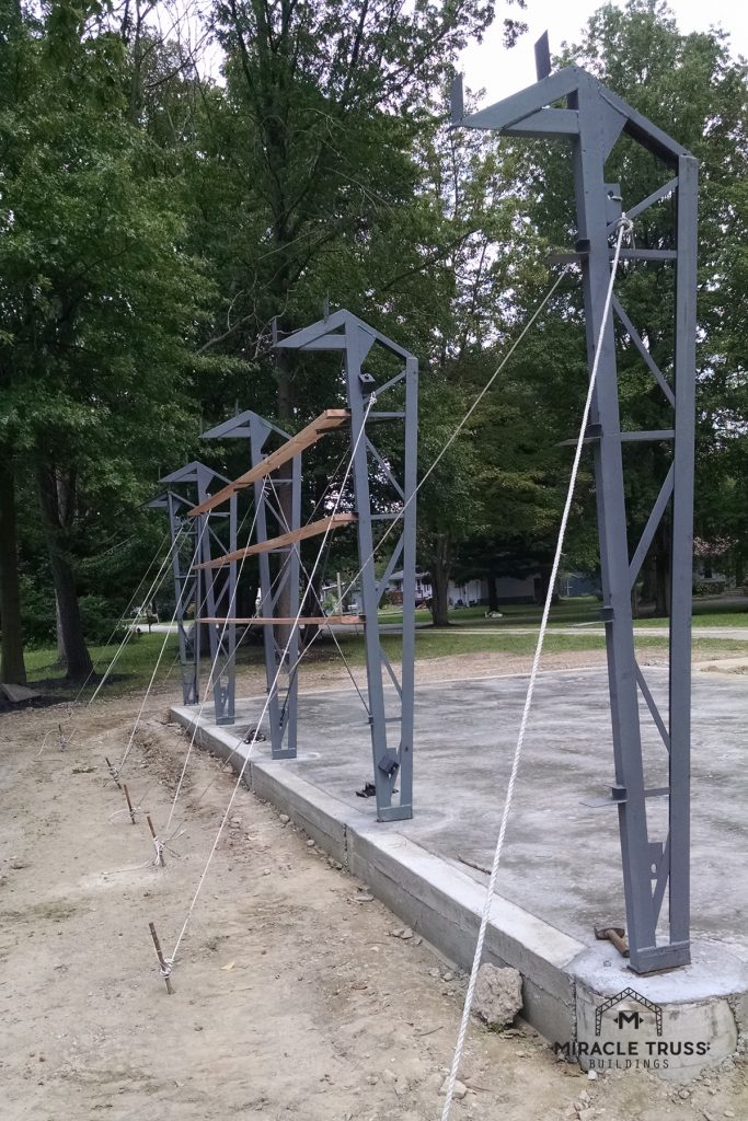 The Clear Span Trusses bolt directly to your foundation.