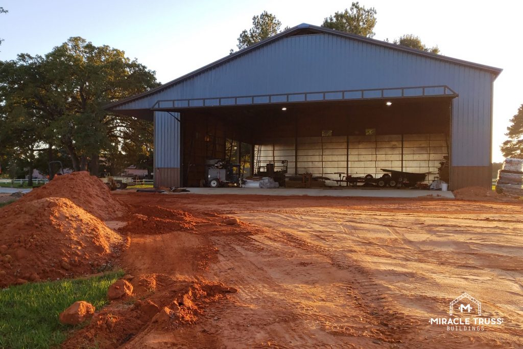 Wide openings and no support poles give Metal Barns optimal room for storage and operations.