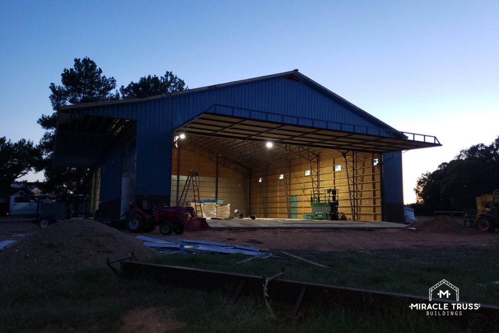 Metal Barns provide ample space for your agricultural equipment.